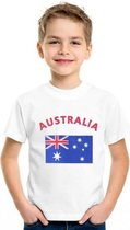 Kinder t-shirt vlag Australia Xl (158-164)