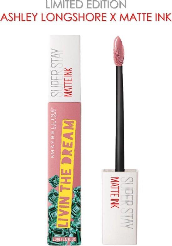 Maybelline Superstay Langhoudende Lippenstift - Matte Ink x Ashley Longshore - 10 Dreamer - Roze - Limited Edition