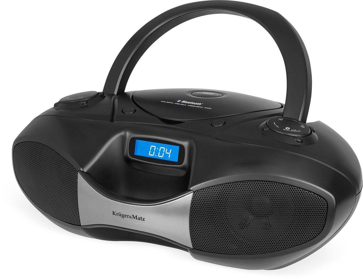 Krüger & Matz KM3903 - CD Boombox met radio, USB en bluetooth