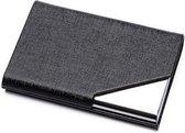 Luxe Pasjeshouder van Aluminium & PU Leer - Anti Diefstal RFID – Portemonnee en ID Kaart Houder in 1 – Credit Card Houder – Eenvoudig in Gebruik – Ruimte voor 6 pasjes - Zwart