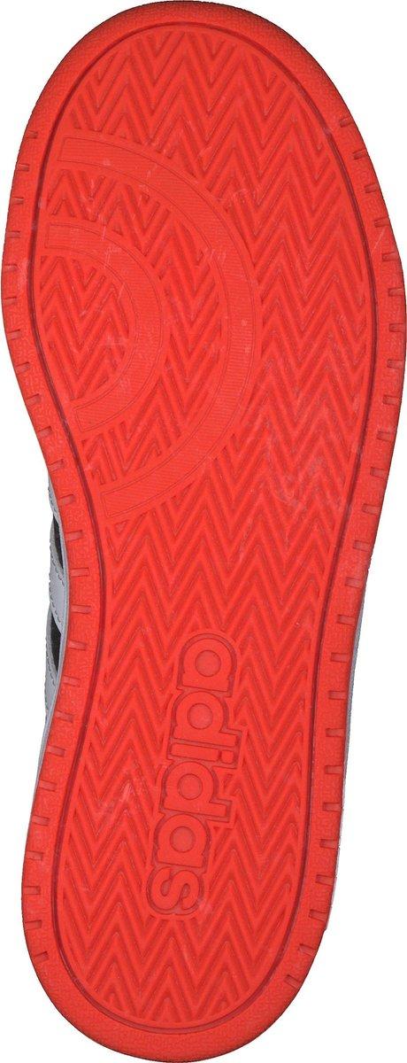 adidas Hoops 2.0 K Jongens Sneakers - Core Black/Ftwr White/Hi-Res Red S18 - Maat 32 yhrNC
