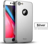 iPaky Hoesje en Screenprotector iPhone 8 - Zilver