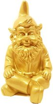 Kabouter beeld goud – zittende tuinkabouter Stoobz | GerichteKeuze