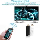 Wireless HDMI Miracast DLNA display Dongle, CPU: ARM Cortex A9 Single Core 1,2 GHz, ondersteuning voor WiFi + HDMI(White)