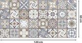 Walplus Spaans Kalksteen - Home Decoratie Sticker - Vloersticker/Wandsticker - 120x60 cm