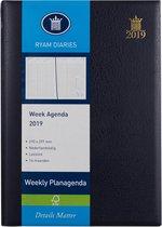 Afbeelding van Ryam Bureau Agenda 2020 - A4 formaat - 21x30 cm - Blauw - Wekelijks
