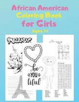 African American Coloring Book for Girls