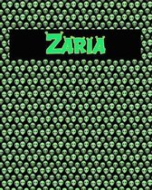 120 Page Handwriting Practice Book with Green Alien Cover Zaria