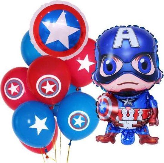 Avengers ballonnen set 10 stuks| Captain America ballon groot| Marvel Ballon |Kinderfeestje | End game