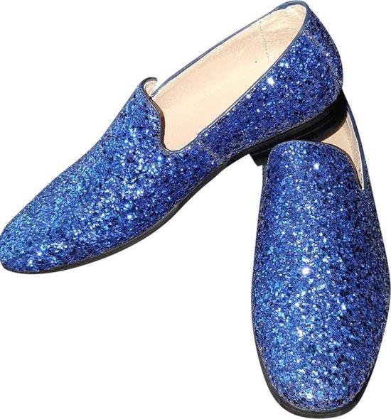Toppers, heren glitter schoen, blauw