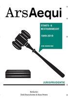 Boek cover Ars Aequi Jurisprudentie - Jurisprudentie Staats- en bestuursrecht 1849-2019 van Derk Bunschoten (Paperback)