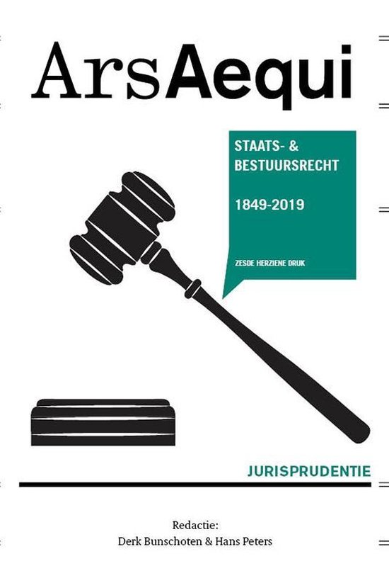 Boek cover Ars Aequi Jurisprudentie - Jurisprudentie Staats- en bestuursrecht 1849-2019 van  (Paperback)
