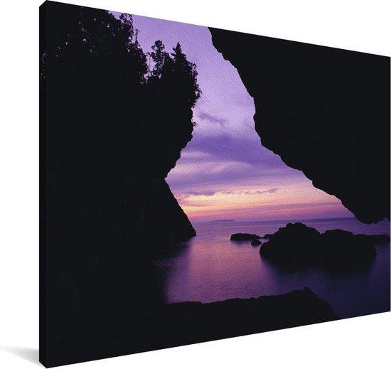 Nationaal park Bruce Peninsula in Canada bij zonsondergang Canvas 120x80 cm - Foto print op Canvas schilderij (Wanddecoratie woonkamer / slaapkamer)
