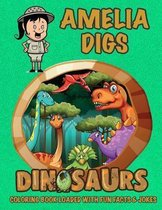 Amelia Digs Dinosaurs Coloring Book Loaded With Fun Facts & Jokes