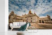 Onderaanzicht Ananda-tempel Bagan in Myanmar fotobehang vinyl breedte 330 cm x hoogte 220 cm - Foto print op behang (in 7 formaten beschikbaar)