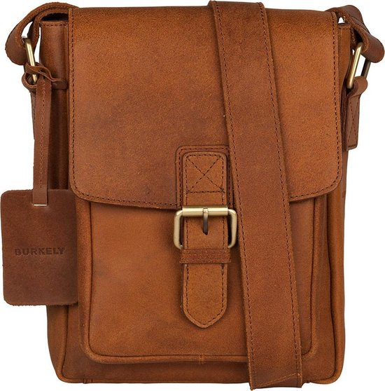BURKELY Vintage Luke Cross Over Heren Schoudertas - Cognac