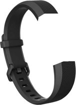 YONO Siliconen bandje - Fitbit Alta (HR) - Zwart - Small