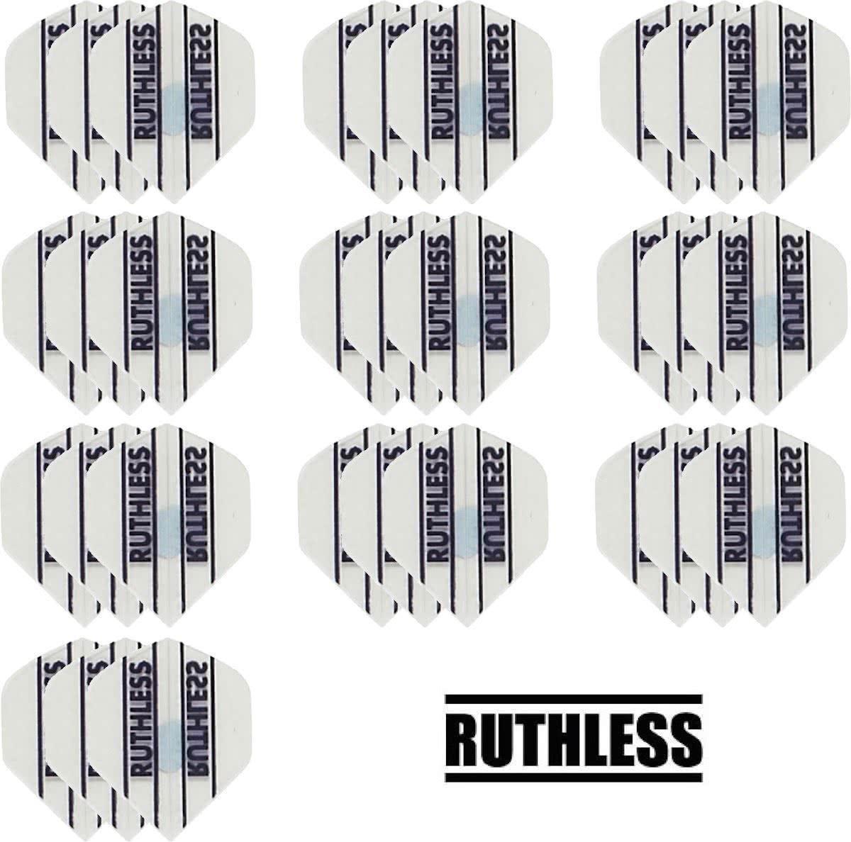Dragon darts - 10 Sets (30 stuks) - Ruthless - sterke flights - Wit - darts flights