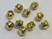 Kerst belletjes goudkleur 12 milimeter 10 Stuks (1 Pak)