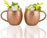Gadgy Moscow Mule 2 bekers, 100%koper – cocktailbekers - 500ml