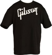 Gibson Logo Tee Shirt Large Black gitaar merchandise/collectible