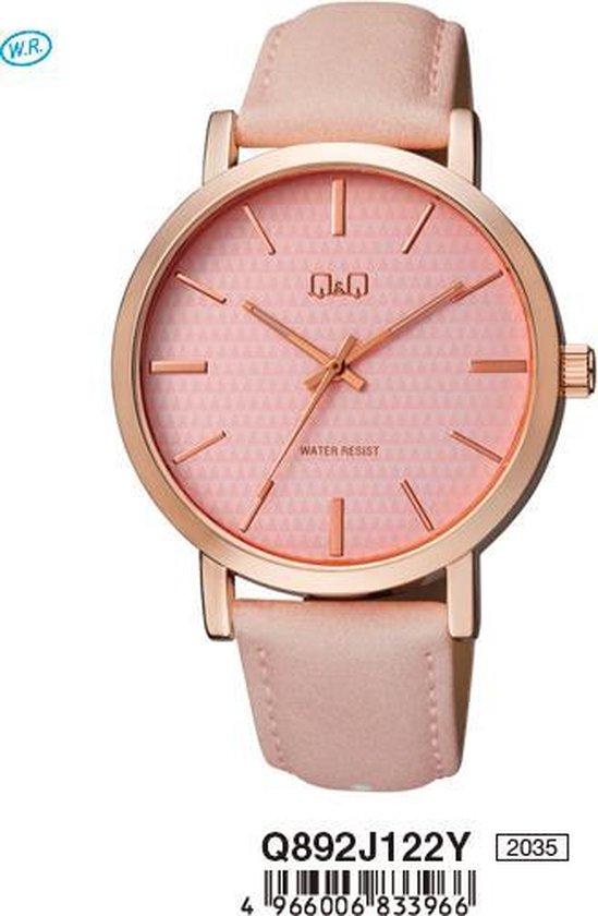Prachtige horloge -roos Q&Q Q892J122Y