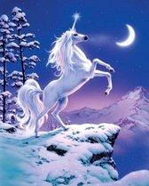 Diamond Painting Crystal Art Kit ® Moonlight Unicorn, 50×40 cm, partial painting