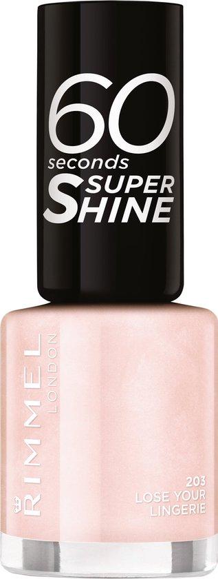 Rimmel London 60 Seconds Super Shine nagellak - 203 Lose Your Lingerie - Lichtroze