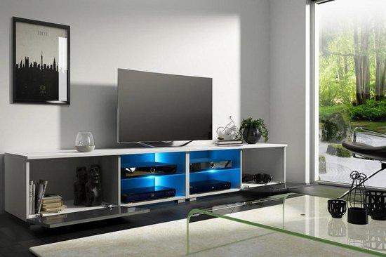 Tv Kast Wit Modern.Bol Com Tv Kast Meubel Hoogglans Wit 200 Cm Modern Design