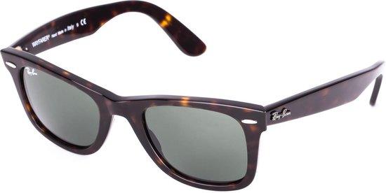 Ray-Ban RB2140 902 - Original Wayfarer (Classic) - zonnebril - Tortoise / Groen Klassiek G-15 - 50mm