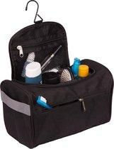 TravelMore Ophangbare Toilettas met Haak - Reis Toilet Tas Bag en Travel Organizer  – Unisex – Zwart