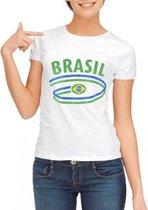 Wit dames t-shirt Brazilie XL