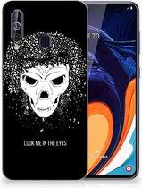 Silicone Back Case Samsung Galaxy A60 Skull Hair