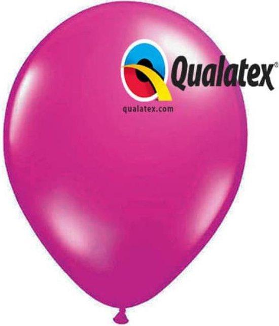 Ballonnen Metallic Magenta 30 cm 25 stuks