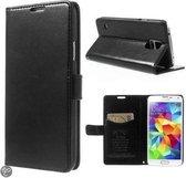 KDS Smooth Wallet case hoesje Samsung Galaxy S5 en Samsung Galaxy S5 Neo zwart