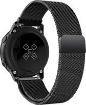 Milanees Bandje voor Samsung Galaxy Watch Active 2 (40 & 44 mm) - iCall - Magneetsluiting - Zwart