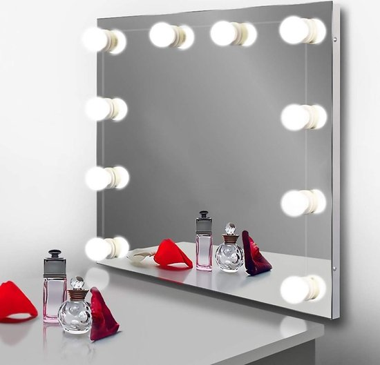 Bol Com Hollywood Spiegellampen Spiegelverlichting Met 10 Led Lampen Dimbare Make Up
