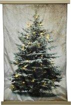 Wandkleed Kerstboom - 71 LED - 113x169cm