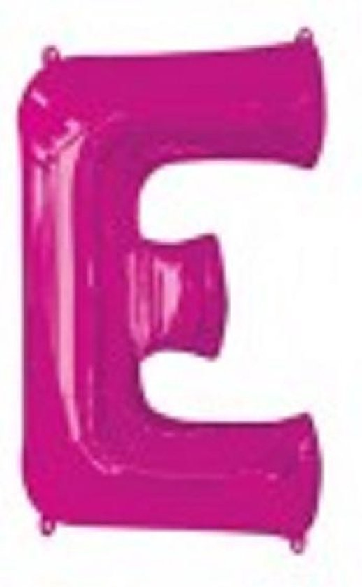 ballon letter E magenta 40 cm (16inch)
