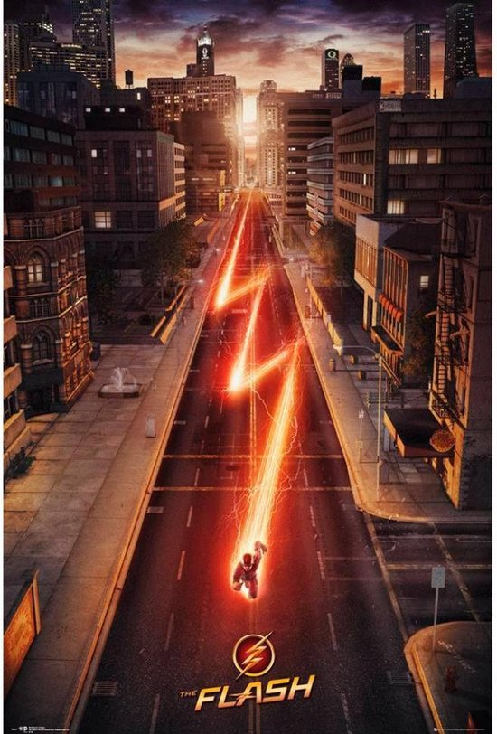Flash poster DC comic-superheld-TV 61 x 91.5 cm.