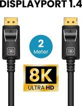 Somstyle Displayport kabel 1.4 – 8K 60Hz – 4K 144 Hz - 32.4GBps – Gecertificeerd – DP 1.4 kabel - 2 Meter