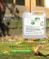 VOOR AL U GROEN AANSLAG TE VERWIJDEREN 100 % concentraat HG MOS ALGEN ZELF WERKEND ZONDER SCHROBBEN Groene aanslagreiniger 5 L Anti green Algen- Mos bestrijding