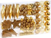 Deuba Kerstballen goud 102 stuks.