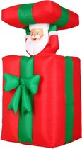 Deuba Kerstman in opblaasbaar cadeau