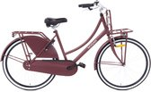 Nogan Vintage Transportfiets - Meisjesfiets - 26 inch - Mat Rood