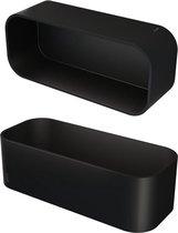 Geesa Frame Douchemand / Planchet - 25 cm - Zwart