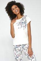 Cornette Katoenen Pyjama Dames Volwassenen | Korte Mouw Korte & 7/8 Lange Broek | Pyama Dames Volwassenen | Sophie  670/200 L
