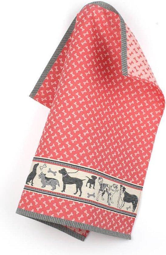 Theedoek Honden rood