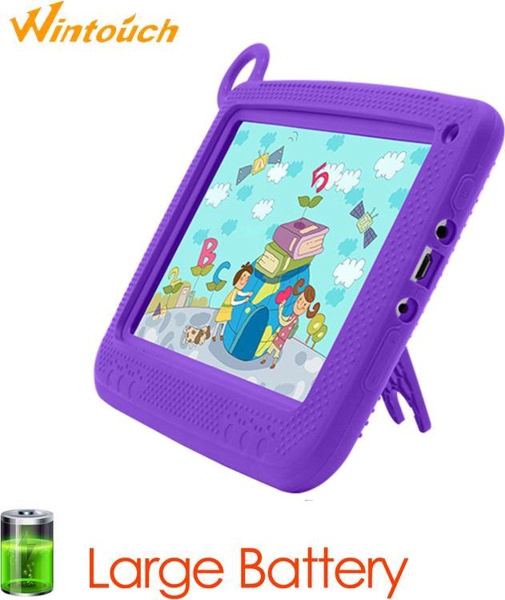 Kindertablet Pro Paars - Tablet 7 inch - 16 GB opslag - Kinder tablet - Android 8.1 - vanaf 3 jaar - tablets kinderen - kids tablet - Scherp HD beeld - leerzame voor kinderen - Wifi Bluetooth - voor-achter camera - Play store - uitstekende batterij