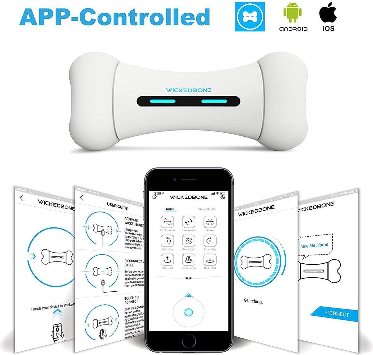 Wickedbone   Interactief en Intelligent Speelgoed voor Honden   App & Bluetooth Bestuurbaar